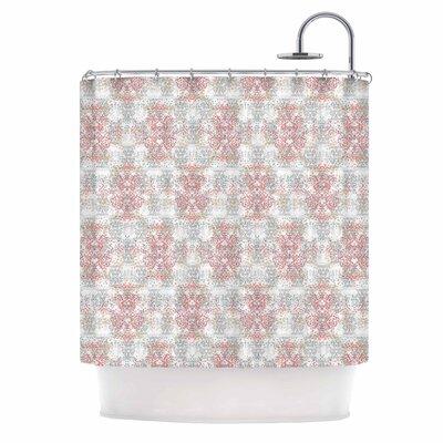 Carolyn Greifeld Damask Splatter Shower Curtain