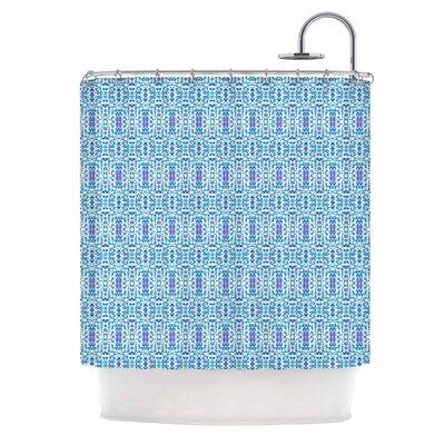 Carolyn Greifeld Shabby Blues Digital Shower Curtain