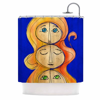 Carina Povarchik My Many Selfs Fantasy Shower Curtain