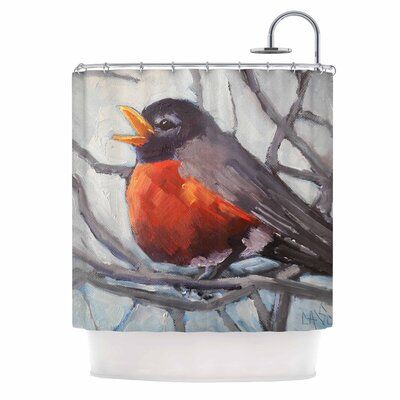 Carol Schiff Winter Robin Shower Curtain