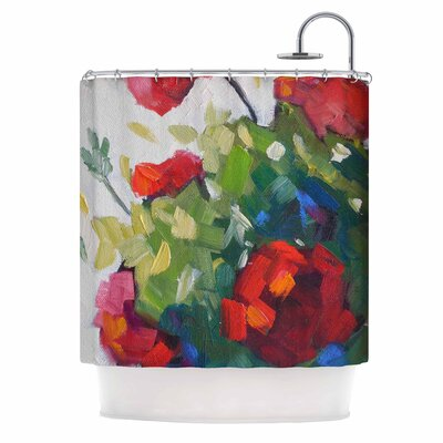 Carol Schiff Cheerful Geranium Shower Curtain