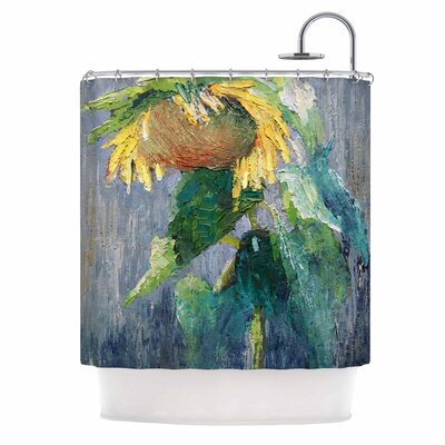 Carol Schiff Lonely Sunflower Nature Shower Curtain