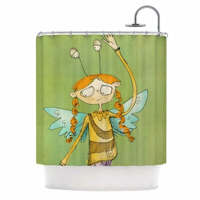 Carina Povarchik Urban Fairy Girl Kid Shower Curtain