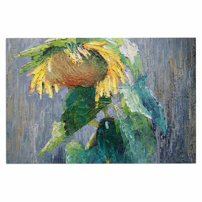 Carol Schiff Lonely Sunflower Nature Doormat