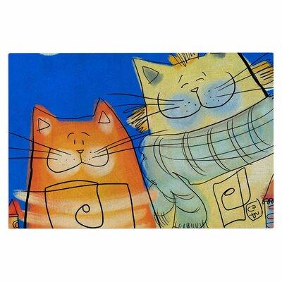 Carina Povarchik Happy Cats in the City Doormat