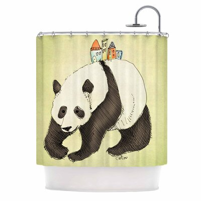 Carina Povarchik Happy Panda Animal Shower Curtain