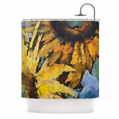Carol Schiff Sunflowers and Hydrangea Floral Shower Curtain