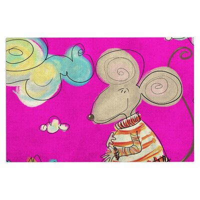 Carina Povarchik Urban Mouse Doormat Color: Magenta/Yellow