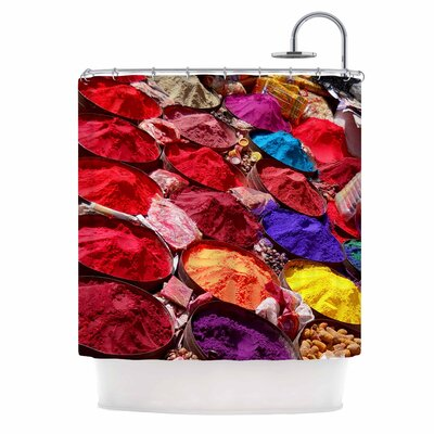 Carina Povarchik Indian Powders Photography Shower Curtain