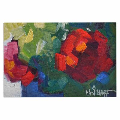 Carol Schiff Cheerful Geranium Doormat