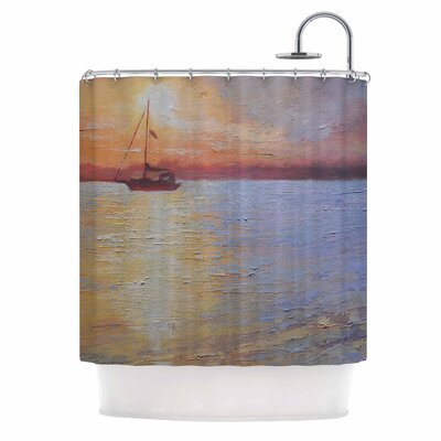 Carol Schiff Evening Anchor Shower Curtain
