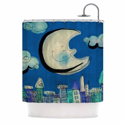 Carina Povarchik Moon Shower Curtain