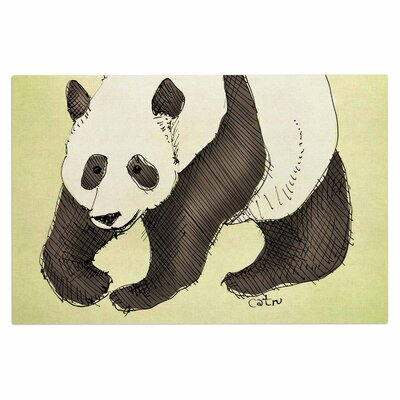 Carina Povarchik Happy Panda Animals Doormat