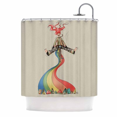 Carina Povarchik Weeeee Illustration Shower Curtain