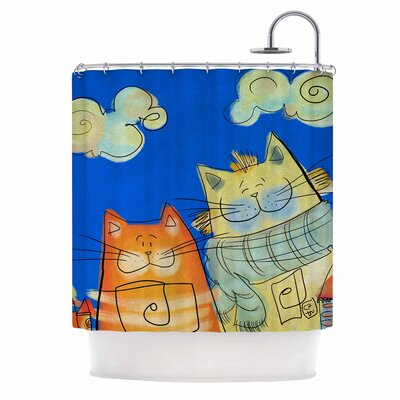 Carina Povarchik Happy Cats in the City Shower Curtain
