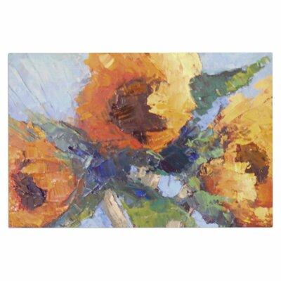 Carol Schiff Sunflower Trio Floral Doormat