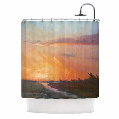 Carol Schiff Golden Hour Over the Marsh Shower Curtain