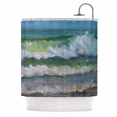 Carol Schiff Atlantic Breakers Shower Curtain