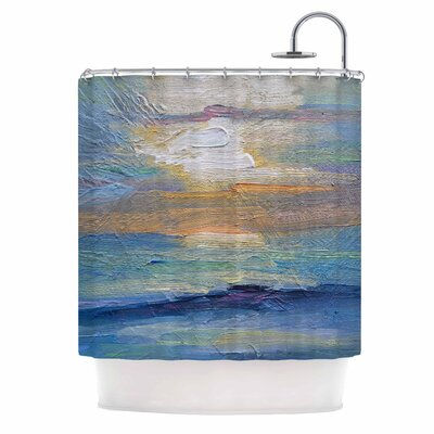 Carol Schiff Ocean Sunset Coastal Shower Curtain