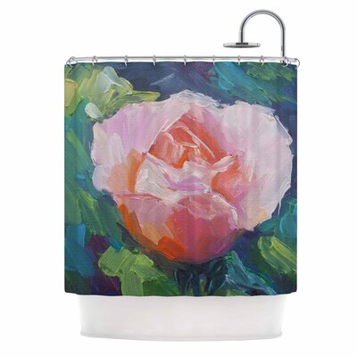 Carol Schiff Coral Rose Shower Curtain