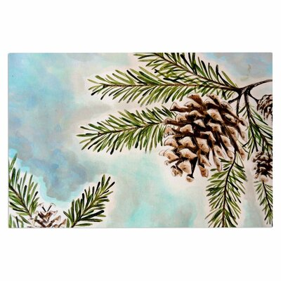 Christen Treat Pinecones Sky Doormat