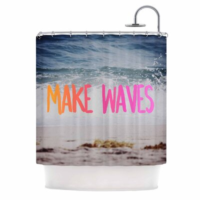 Make Waves Photography Shower Curtain