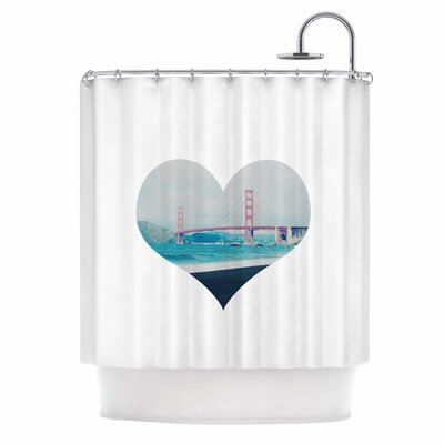 San Francisco Love Coastal Shower Curtain