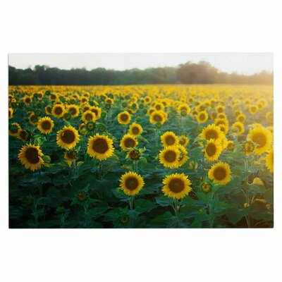 Chelsea Victoria Sunflower Fields Floral Photography Doormat