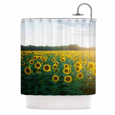 Chelsea Victoria Sunflower Fields Photography Shower Curtain