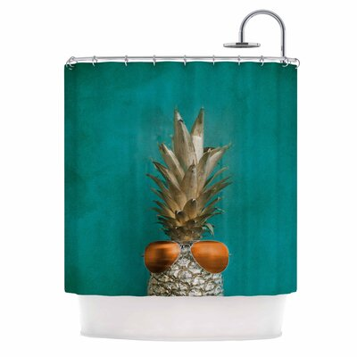 24 Karat Pineapple Shower Curtain