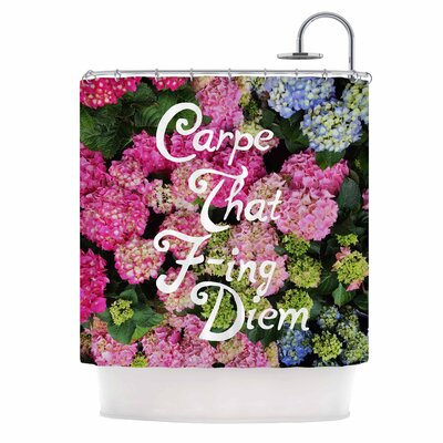 Chelsea Victoria Carpe That F-ing Diem Shower Curtain