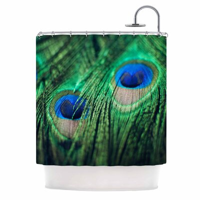 Chelsea Victoria Peacock Feathers Shower Curtain