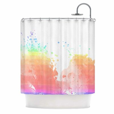 Chelsea Victoria Color Splatter Shower Curtain