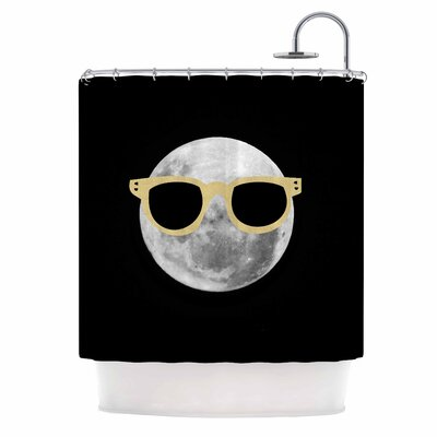 Mr. Moon Illustration Shower Curtain