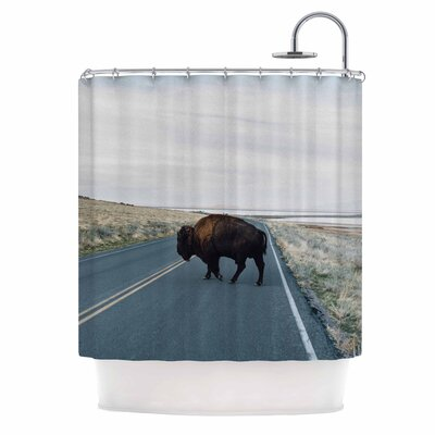 Buffalo Crossing Photography Shower Curtain