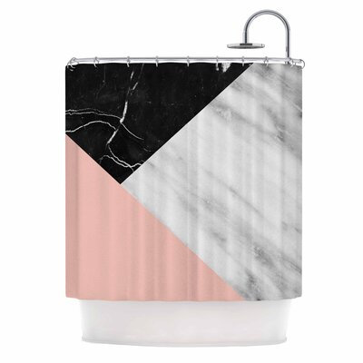 Cafelab Marble Collage with Pale Shower Curtain