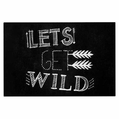 Chelsea Victoria Lets Get Wild Illustration Typography Doormat