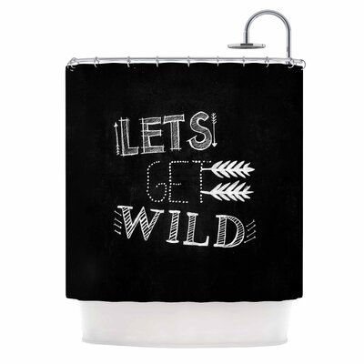 Chelsea Victoria Lets Get Wild Illustration Shower Curtain