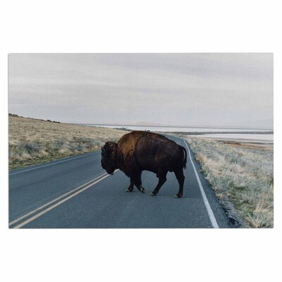 Chelsea Victoria Buffalo Crossing Animals Photography Doormat