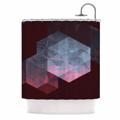 Cafelab Dramatic Geometry Shower Curtain