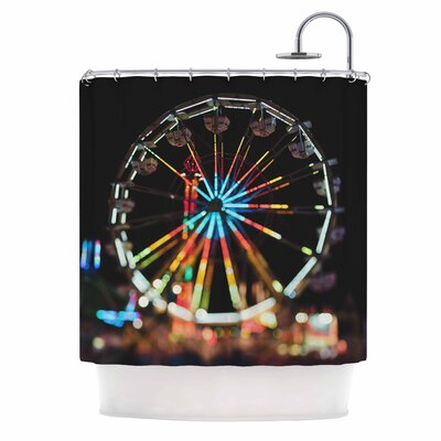 Chelsea Victoria Night Lights Photography Shower Curtain