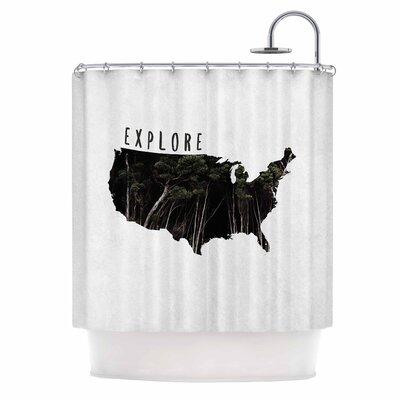 Chelsea Victoria Explore Illustration Shower Curtain