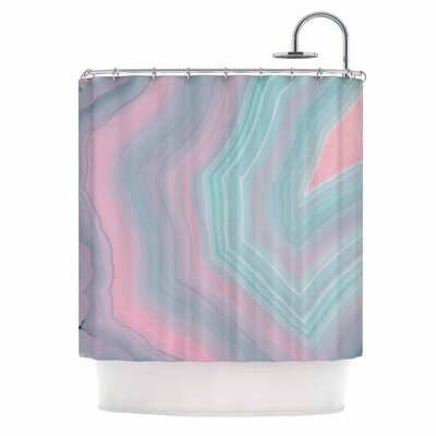 Cafelab Sweet Pastel Agate Shower Curtain