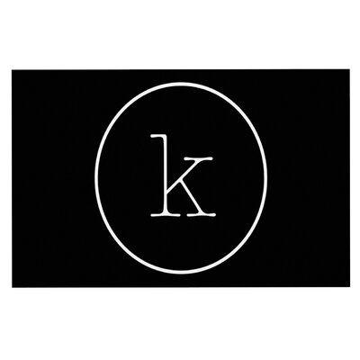 Simple Doormat Letter: K