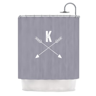 Arrow Monogram Shower Curtain Color: Gray