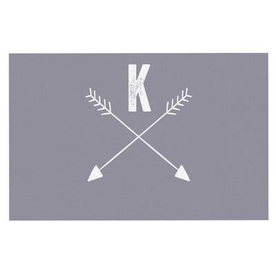 Arrow Monogram Doormat Color: Gray