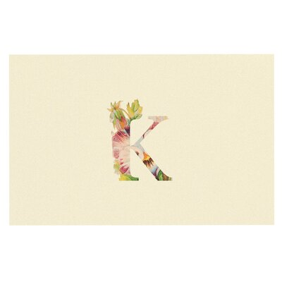 'Floral Monogram' Doormat