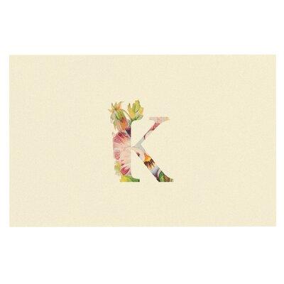 Floral Doormat Letter: R