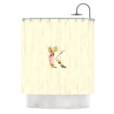 Floral Monogram Shower Curtain