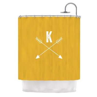 Arrow Monogram Shower Curtain Color: Gold
